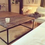 ByLøth sofabord patineret egetræ