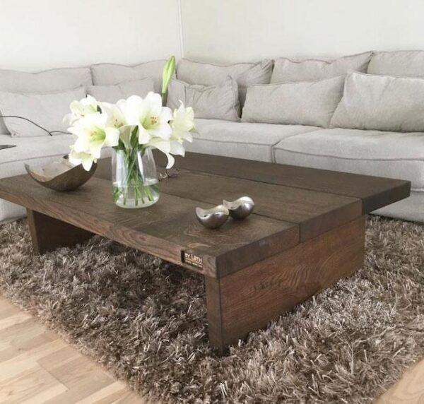Black oak sofabord